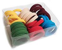 Резинки для волос бесшовные микрофибра 30 штук