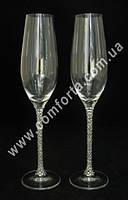 30973 Crystal, свадебные бокалы для шампанского (2 шт) высота ~ 26,5 см