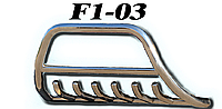 Защита переднего бампера Isuzu D-max 2012+ (диаметр трубы 51мм)(1,6мм толщина металла)