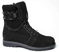 """Зимние женские ботинки """"Mida"""". Черные. Нубук"""