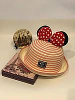 Стильная летняя  Детская шляпка  Состав рисовая солома  Объём 48-52 см еш№0581
