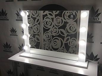 Зеркало с лампами для дома, настенное, фото 2