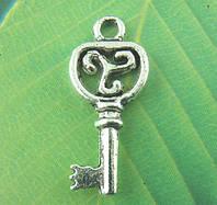 """Подвеска """" Ключ """", 9 mm * 21 mm, Античное серебро, фото 1"""