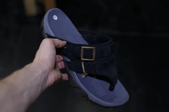 Кожаные мужские шлепанцы A-WAIT, фото 2