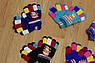 Детские перчатки на флисе цветные. 3 - 6 лет, фото 3