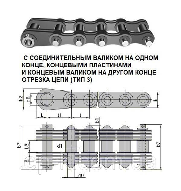 Цепи грузовые пластинчатые G 25-3-25