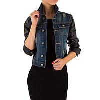 Женская джинсовая куртка с кожаными рукавами Remixx (Европа)