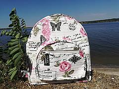 """Рюкзак  женский """"Розовые бабочки (ранец)"""""""