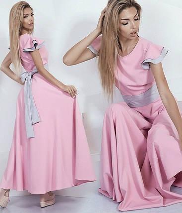 Платье в пол с поясом, фото 2