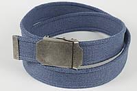Ремень мужской унисекс джинсовый тканевый однотонный 40 мм светлый джинс