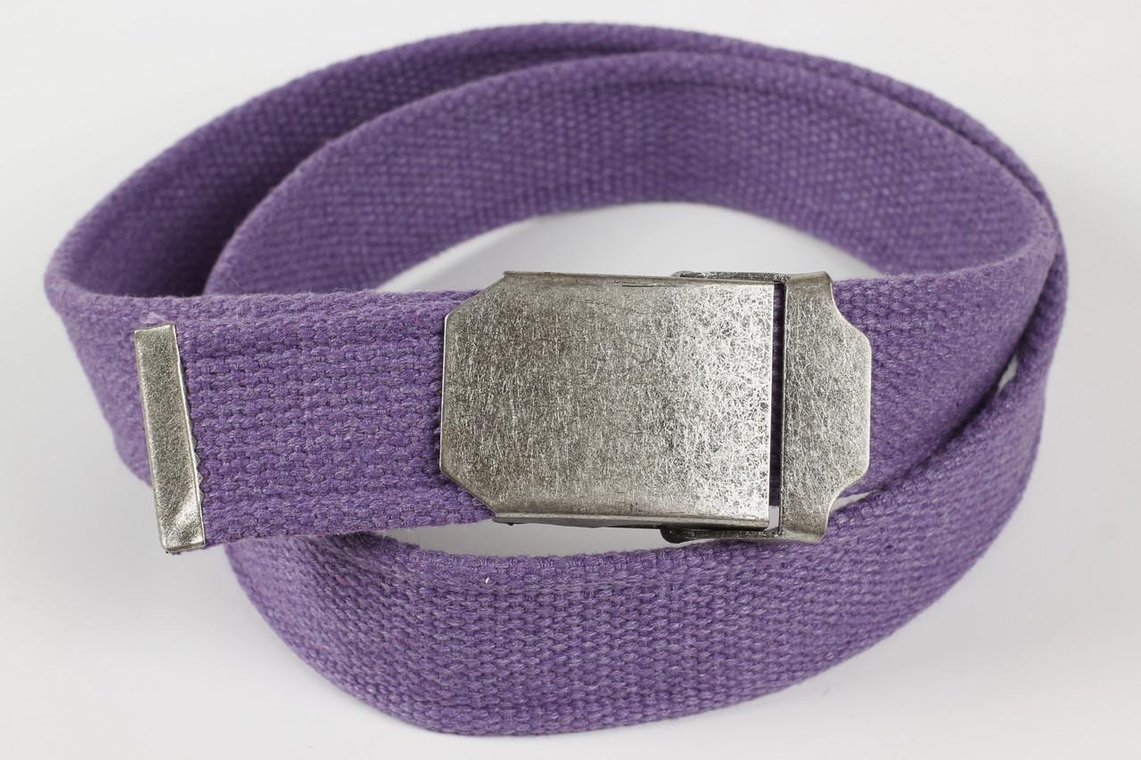 Ремень мужской унисекс джинсовый тканевый однотонный 40 мм сиреневый