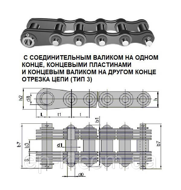 Цепи грузовые пластинчатые G 160-3-50