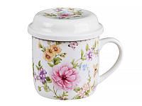 """Чашка фарфоровая заварочная Lefard """"Цветочный сад"""" 250 мл 165-306"""