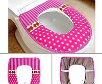 Чехол для унитаза на липучках Sanitary goods, розовый
