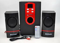 Колонки + сабвуфер 2.1 AiLiang USBFM-T11E-DT (2x8 Вт + 20 Вт)