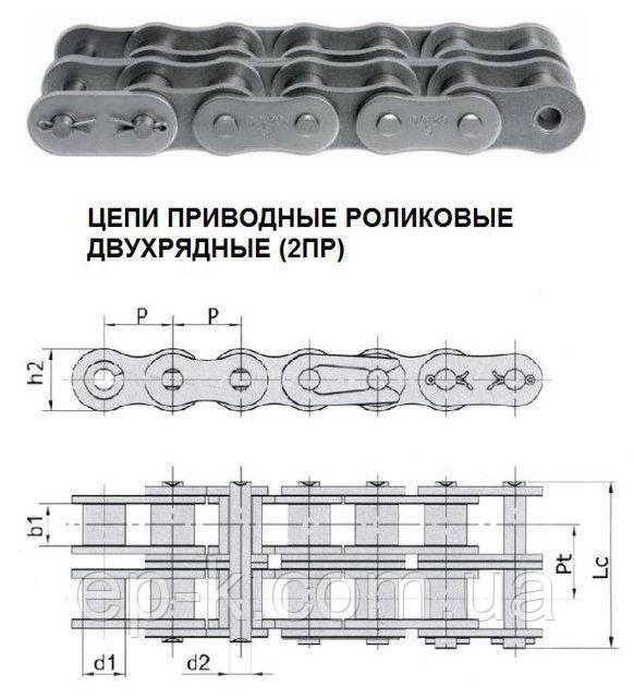 Цепи 2ПР 19,05-6400-2 (ISO 12В-2)