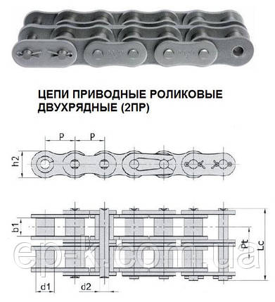 Цепи 2ПР 19,05-6400-2 (ISO 12В-2), фото 2