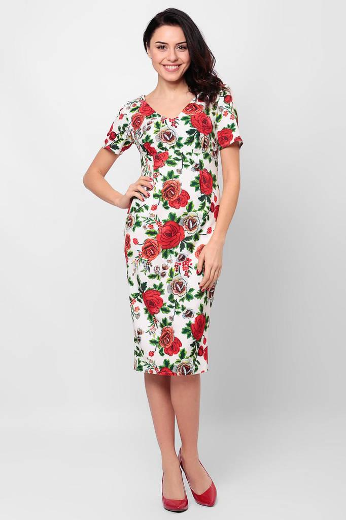Белое платье Eleanor в цветочный принт
