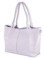 Женская кожаная сумка FR 661-1 белый Кожаные женские сумки купить Одесса 7 км