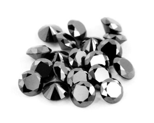 Бриллиант черный  натуральный 2 мм 0,03 Ct
