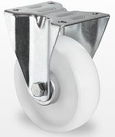 Неповоротное колесо диаметром 80 мм из полиамида нагрузка 100 кг