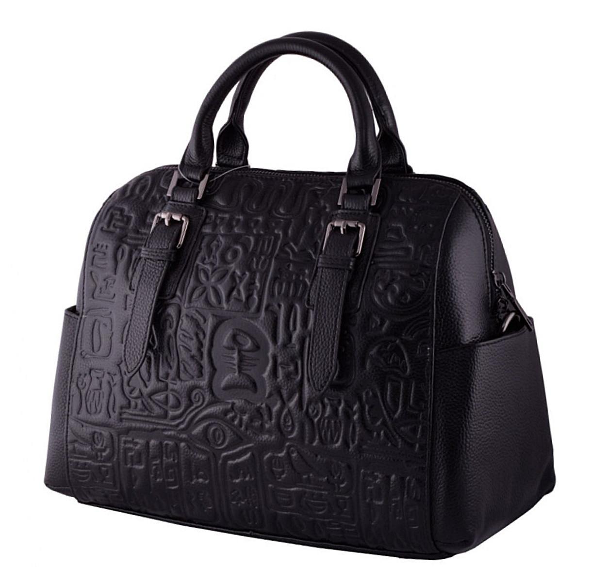 e37b213d3b1b Женская кожаная сумка 9015 черный Кожаные женские сумки купить Одесса 7 км