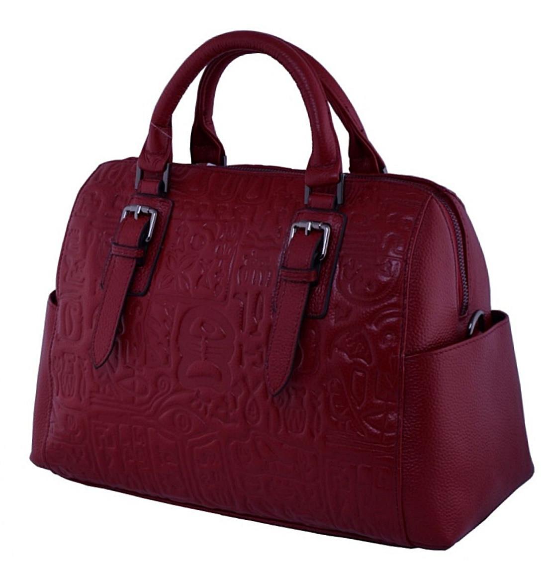 Женская кожаная сумка 9015 красный Кожаные женские сумки купить Одесса 7 км  - Интернет магазин