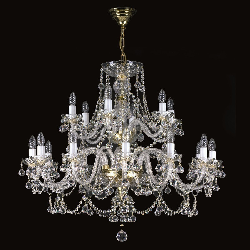 Большая хрустальная люстра Люстра классика ANDREA XVIII. СЕ ArtGlass