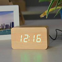 Часы электронные красные цифры.  VST 863-4 Green clock 10 x 6 x 4, фото 1