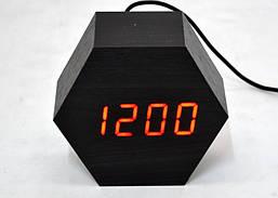Настольные часы с красной подсветкой VST-876-1