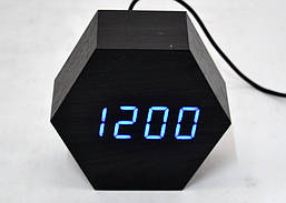 Настольные часы с синей подсветкой VST-876-5
