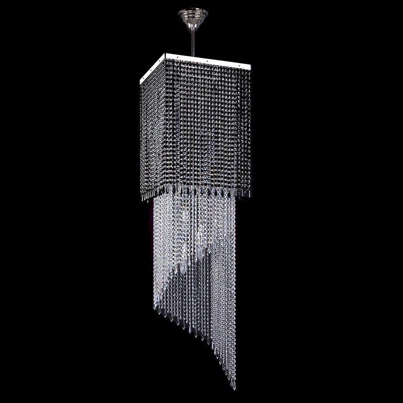 Большой хрустальный светильник AMBRA nickel ArtGlass