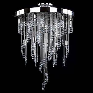 Большой хрустальный светильник  ERIN nickel ArtGlass