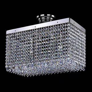 Хрустальный светильник LEANDRA 250x450 nickel ArtGlass