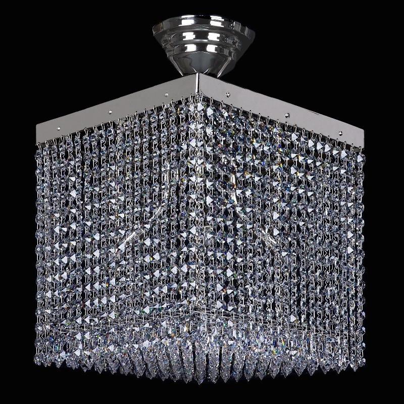 Хрустальный светильник LEANDRA 300x300 NICKEL CE  ArtGlass