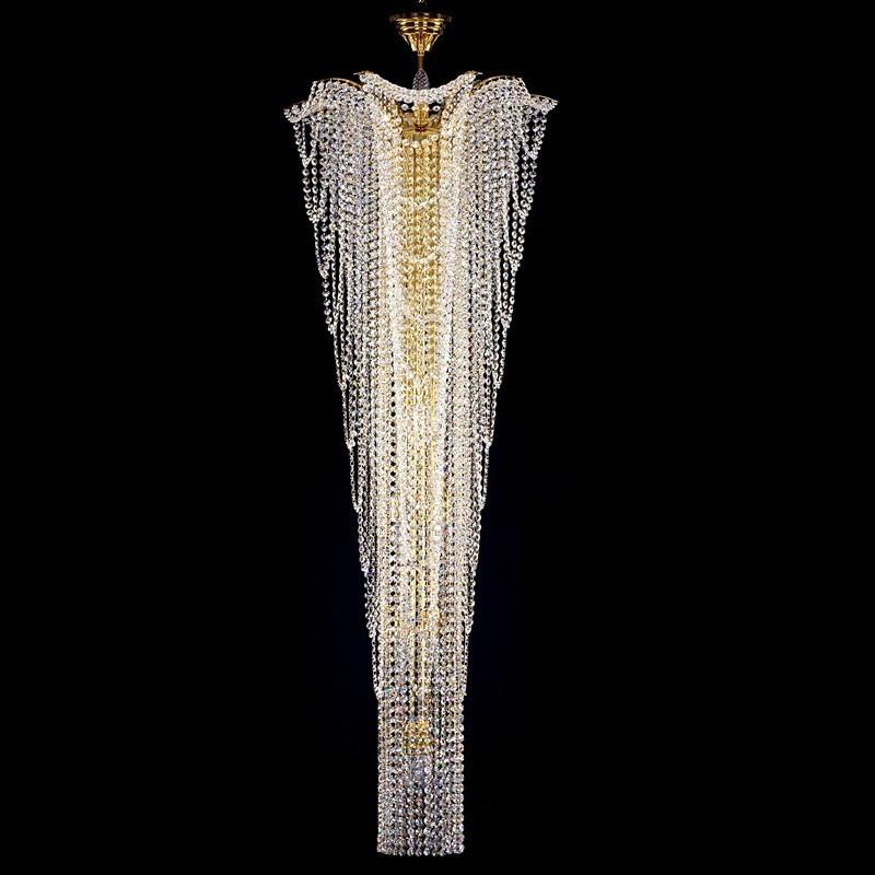 Большой хрустальный светильник  MELANIE dia. 550x1500 ArtGlass