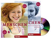 Немецкий язык | Menschen | Kursbuch+Arbeitsbuch+CD+DVD, A1.1. Учебник+Тетрадь | Hueber