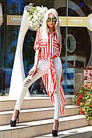 """Стильная женская рубашка-туника в полоску """"Invest"""" с карманами и длинным рукавом (5 цветов)"""