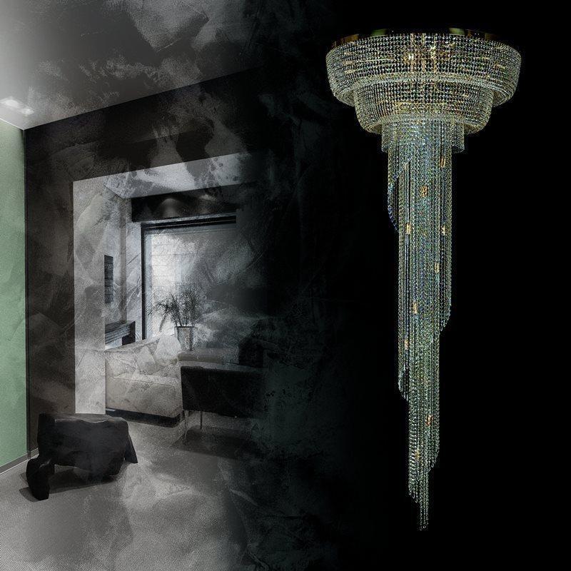 Большой хрустальный светильник SPIRAL COLUMN ArtGlass