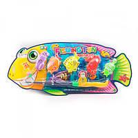Рыбалка 6313, удочка, 38см, на крючке, морские обитатели 5шт 9см, на листе, 57-25-4см