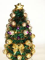Новогодняя конфетная елка 30 см из ferrero rocher №12+6