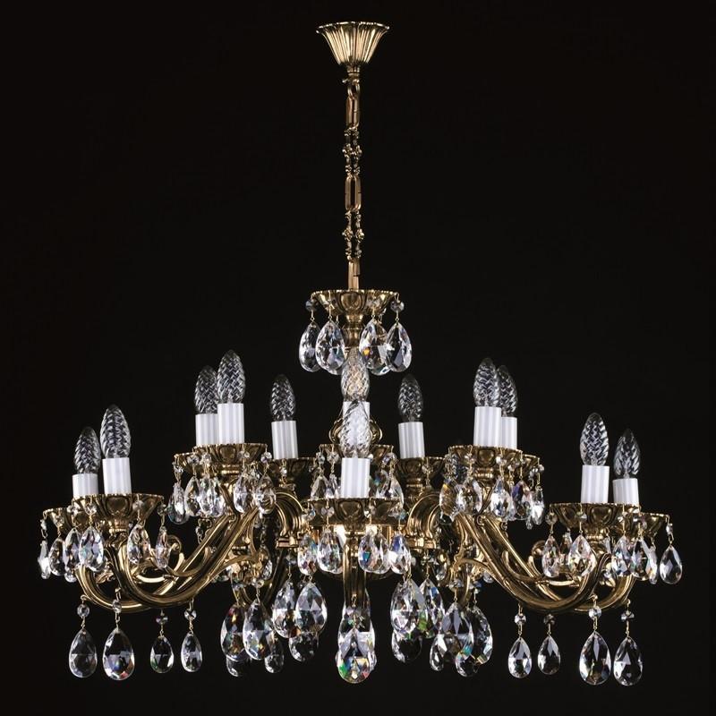Латунная люстра Люстра хрусталь Люстра классика VIKTORIE XVI. СЕ brass antique ArtGlass