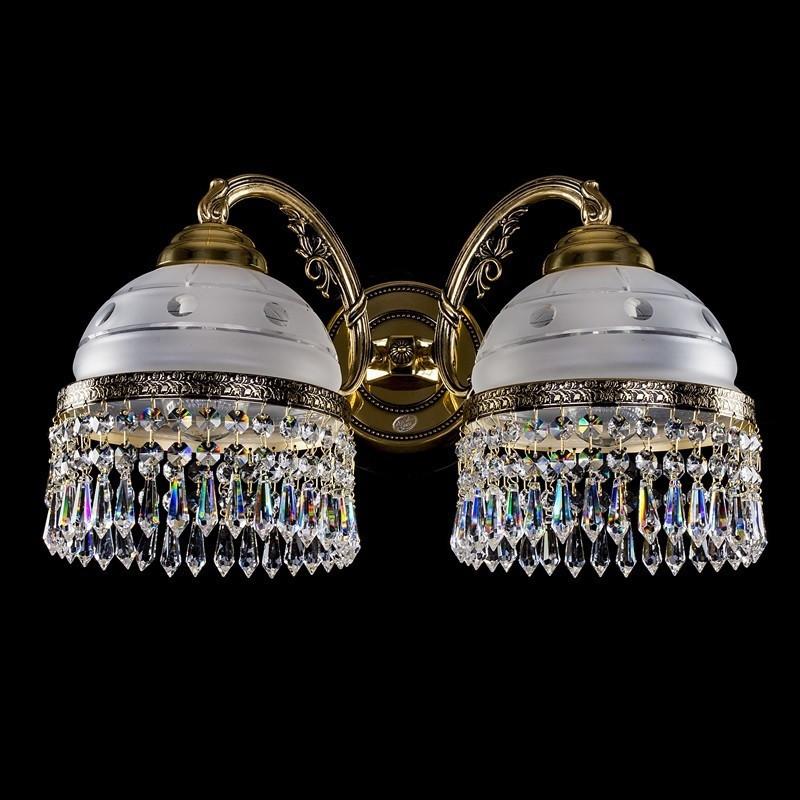Латунное бра KARAT II. brass antique ArtGlass
