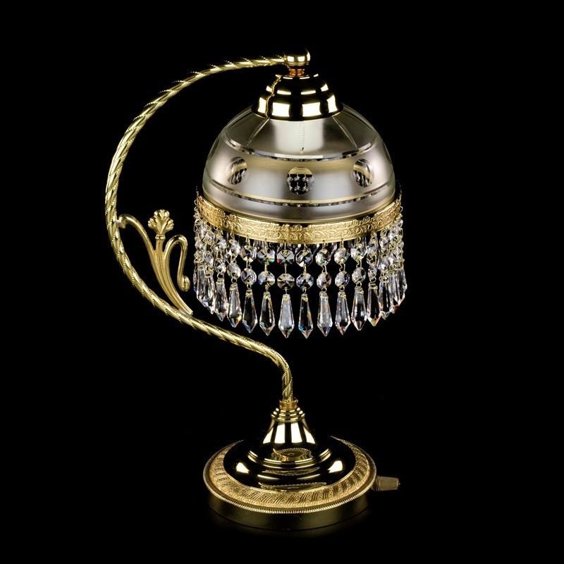 Латунная настольная лампа SCARLETT  CE  ArtGlass