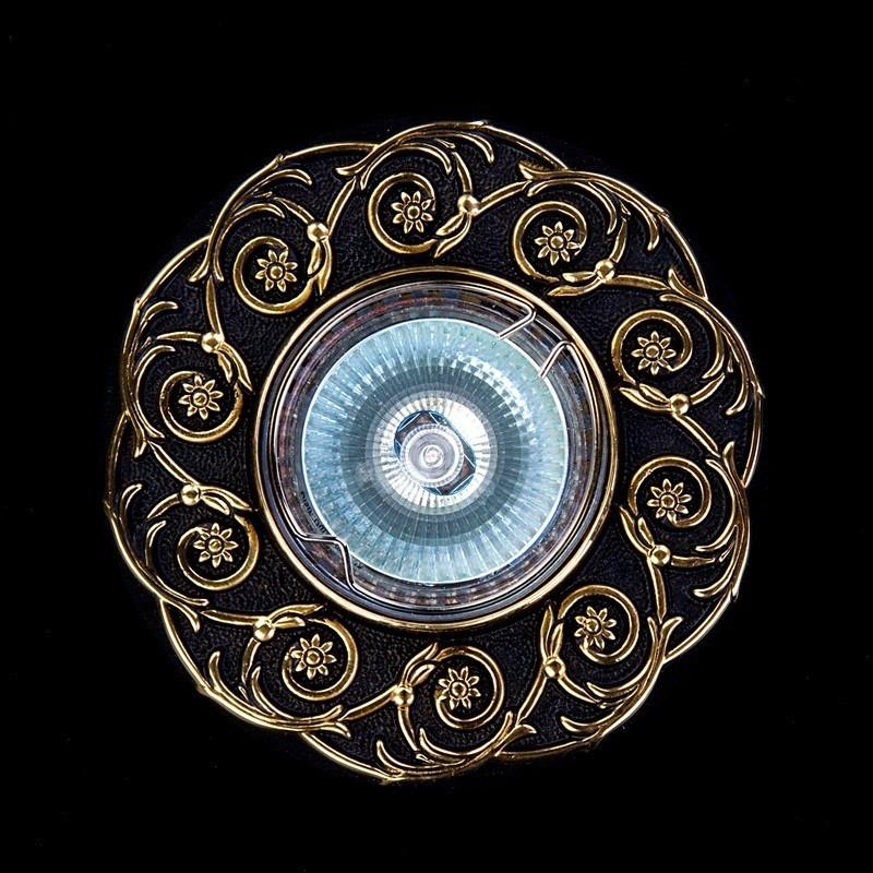 Точечный хрустальный светильник SPOT 52 Brass Antique ArtGlass
