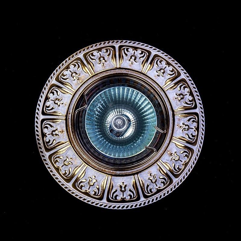 Точечный хрустальный светильник SPOT 50 White Gold ArtGlass