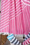 Полотенце-пештемаль пляжное Cross 95х165 розовый Barine, фото 3