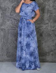 Стильное женское платье в пол летнее
