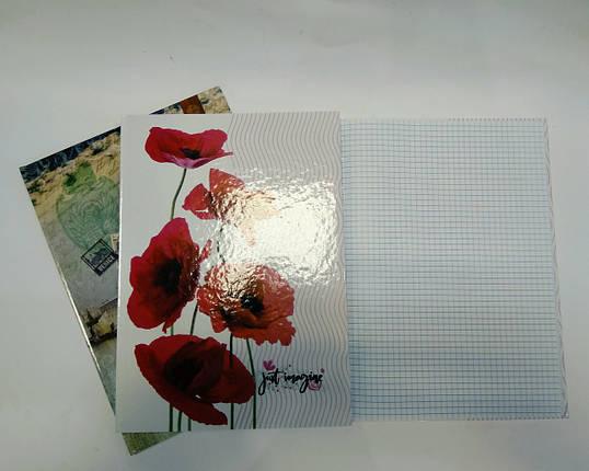 Тетрадь А4 80 листов твердый книжный переплет, фото 2