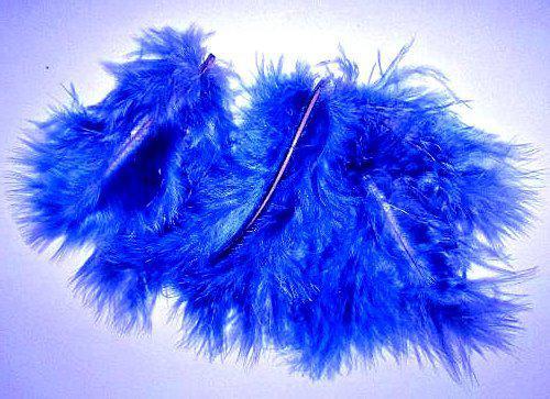 Перья Марабу 6-10 см, синие